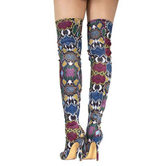 Side Zipper Thigh High Over The Knee Boots