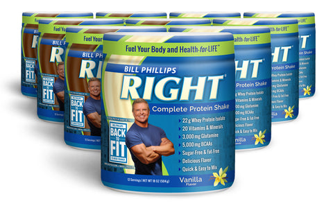 10 Containers RIGHT Complete Nutrition Shake <br>(12 Servings Per Container)