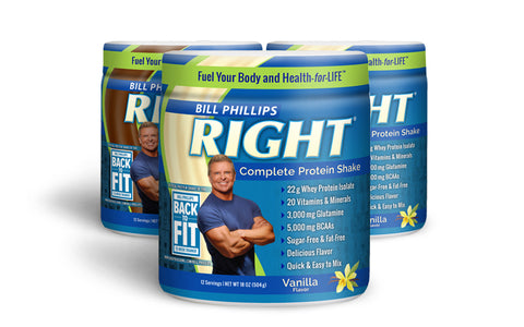 3 Containers RIGHT Complete Nutrition Shake <br>(12 Servings Per Container)