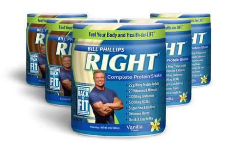 5 Containers RIGHT Complete Nutrition Shake <br>(12 Servings Per Container)