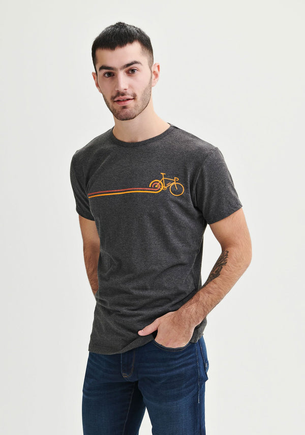 DISCO BIKE  - T-shirt gris