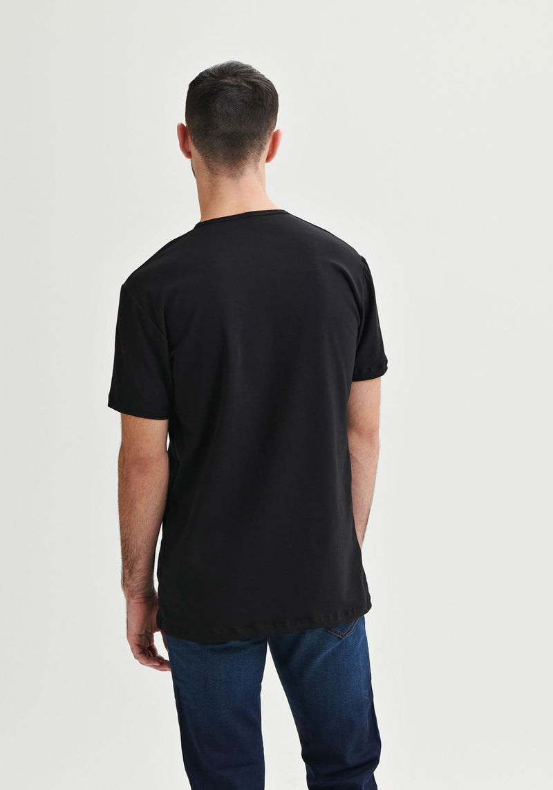 SOLUTION - T-shirt noir