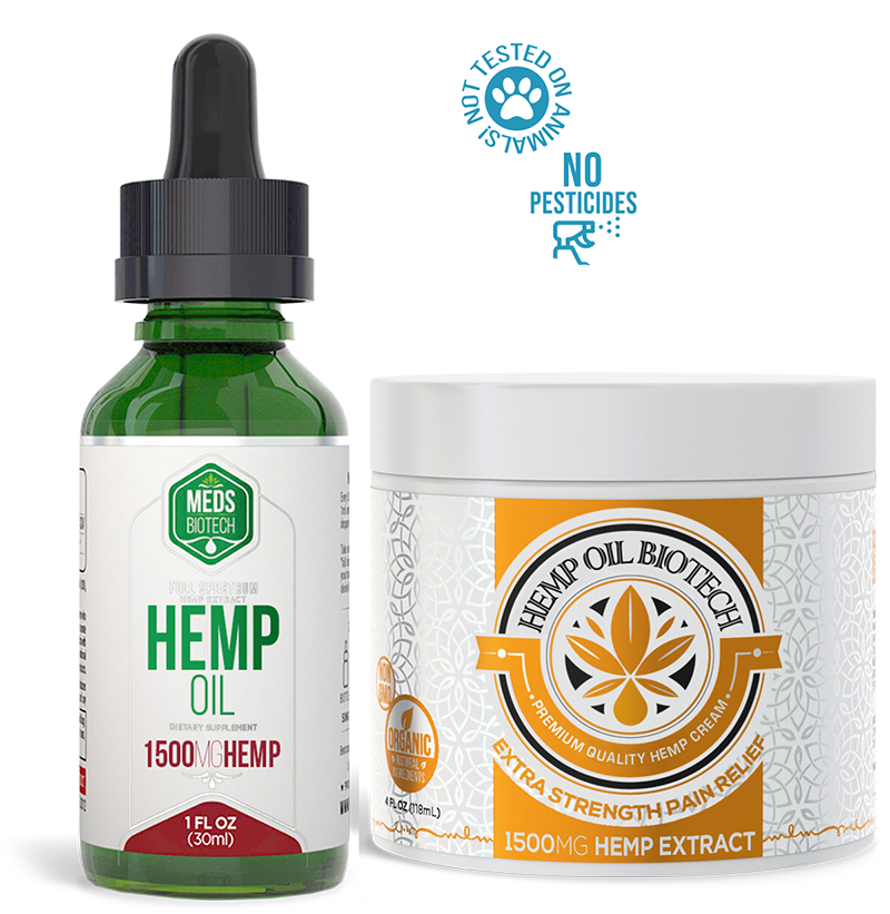 Biotech Hemp Bundle - MedsBiotech Hemp Oil + Biotech Hemp Cream
