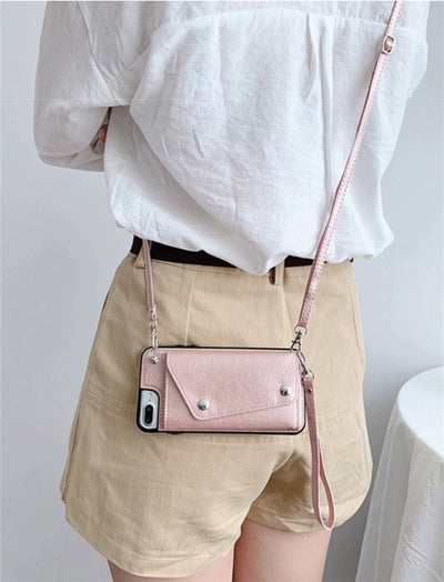 iPhone Wallet Phone Case with Strap