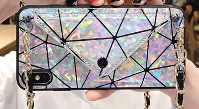 iPhone Prism Case with Credit Card Slot & Chain