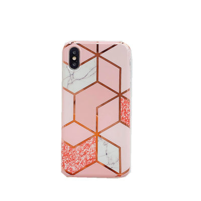 Samsung Marble Lines Phone Case with Chain