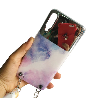 Samsung Marble Phone Case with Strap