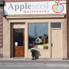 View of Appleseed Quiltworks original store front.