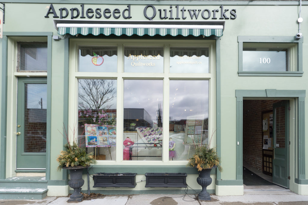 Front exterior view of Appleseed Quiltworks