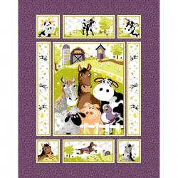 Barnyard Buddies Purple Panel