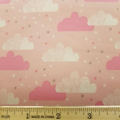 H19 Flannel 6-4 - Pink Clouds