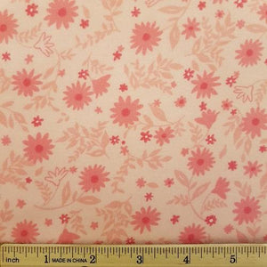 H19 Flannel 7 - Pink Flowers