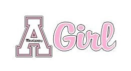 Appalachian State Girl Pink Decal