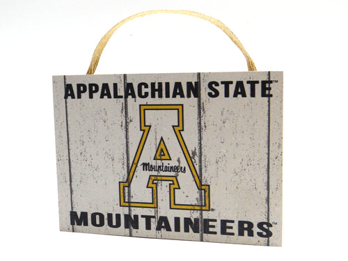 Appalachian State Small Weathered Plaque