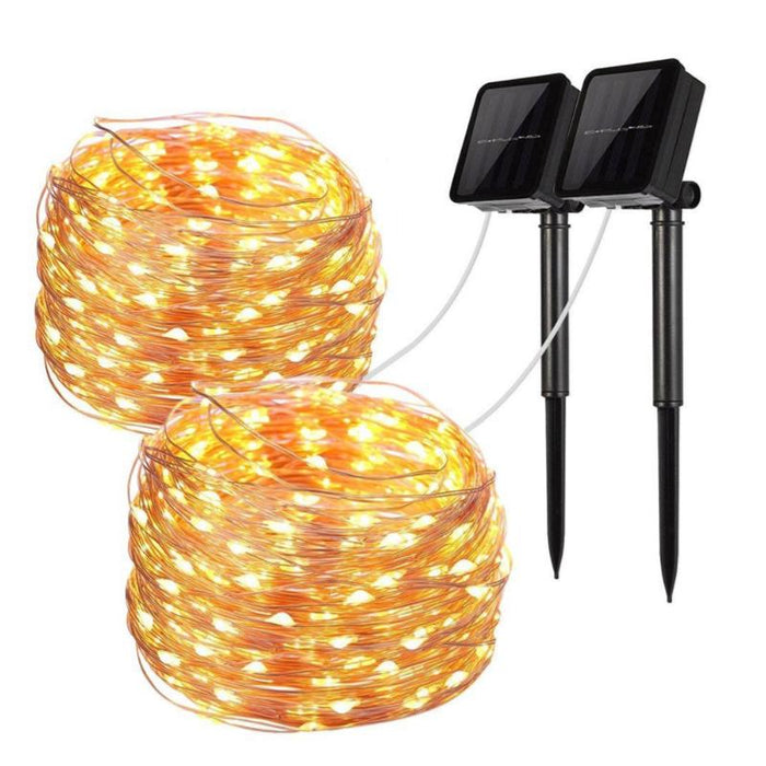 Mini Fiery 100 Lights Shine Like Firebugs With Solar Power