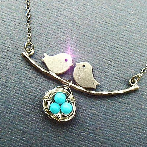 Love Birds Necklace - VistaShops - 2