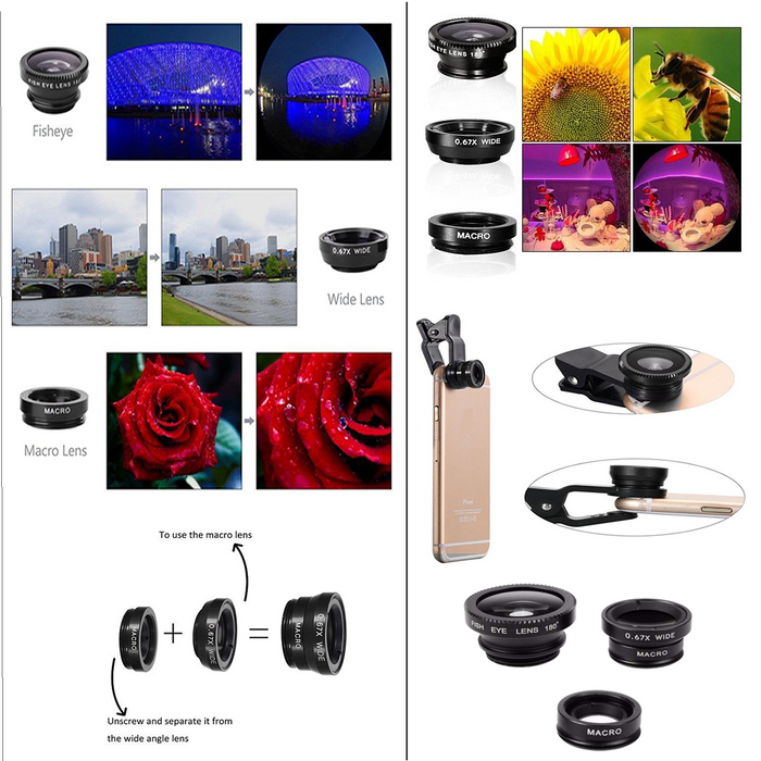 11 In 1 Smartphone Lens And Photography Selfie Bundle