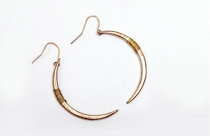 Crescent Moon Earrings In Gold And Silver Plating