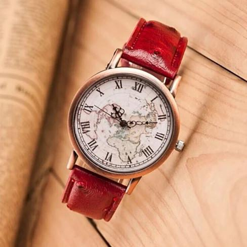 Christopher Vintage Style Watch With Faux Ostrich Leather Belt