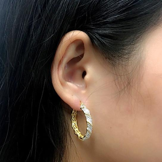Sandy Beach Hoop Earrings