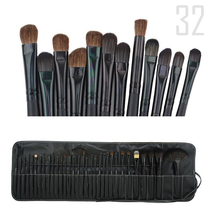Sculptor 32 Piece High Quality Wooden Makeup Brush Set
