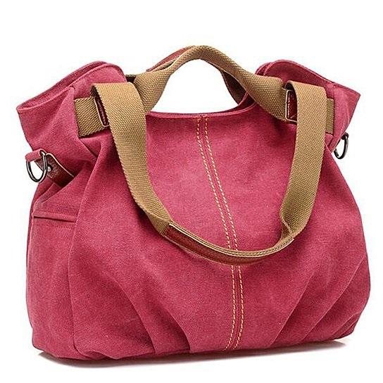 Canvas Satchel Handbag  in 7 Colors