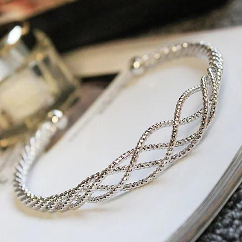 River Rope Style Bracelets In 18Kt Gold Plating 925 Silver Plating And Rose Gold Plating