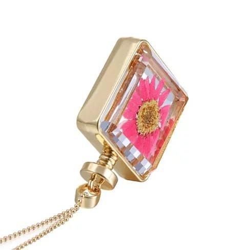 Coral Floral Big Wildflower Necklace - VistaShops - 4