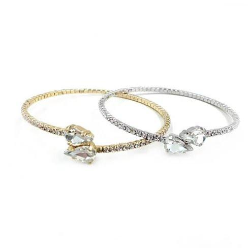 Cute Couple Swarovski Crystal Bangle Bracelet - VistaShops - 1