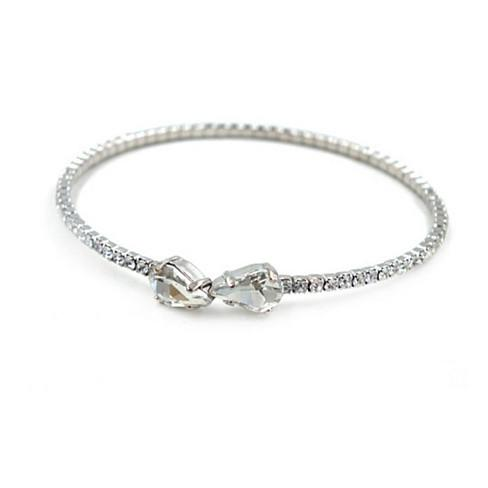 Cute Couple Swarovski Crystal Bangle Bracelet - VistaShops - 2