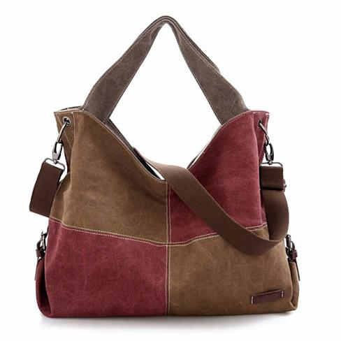 Fair and Square Two Tone Journey Canvas Shoulder Bag - VistaShops - 2