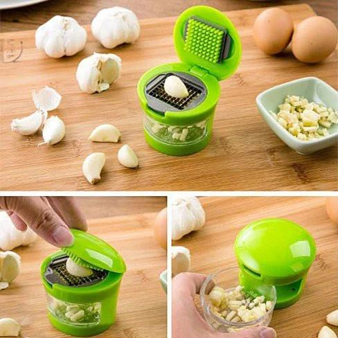 Go For Garlic The Touchless Garlic Chopper And Slicer - VistaShops - 2
