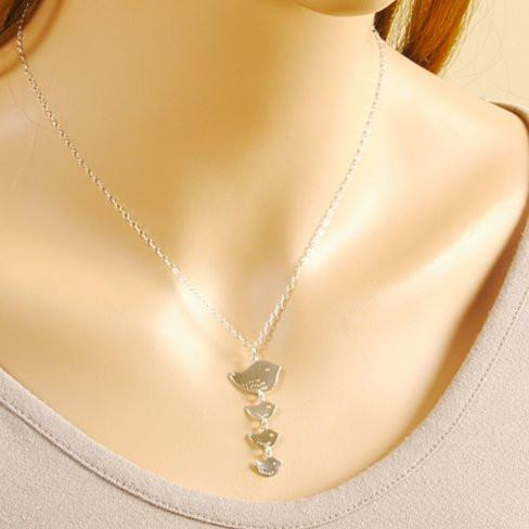 Happy Bird Day Necklace in Sterling Silver - VistaShops - 2