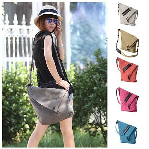 LEISURELY Foldover Crossbody Bag In 6 Colors - VistaShops - 1
