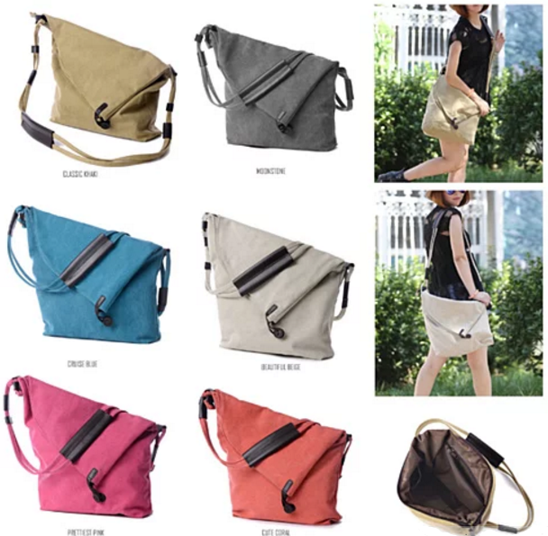 LEISURELY Foldover Crossbody Bag In 6 Colors - VistaShops - 2