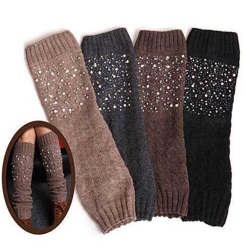 Miss Pearly Legs Leg Warmers With Pearls And Crystals - VistaShops - 1