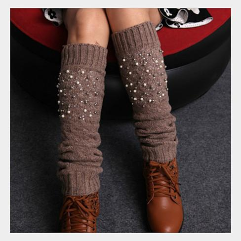Miss Pearly Legs Leg Warmers With Pearls And Crystals - VistaShops - 2
