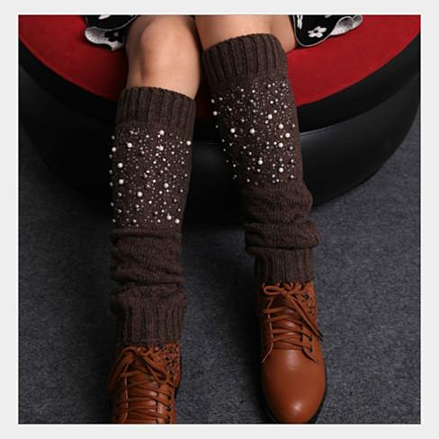 Miss Pearly Legs Leg Warmers With Pearls And Crystals - VistaShops - 3
