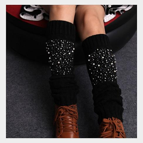 Miss Pearly Legs Leg Warmers With Pearls And Crystals - VistaShops - 5