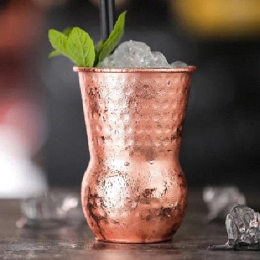 Urban Bar Tumblers In Hand Hammered Copper