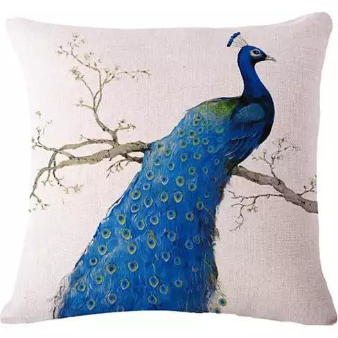 PEACOCK EXOTICA Cushion Covers in Pairs - VistaShops - 2