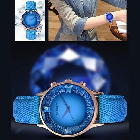 Papillon The Blue Butterflies Swarovski Australian Crystals Lux Watch - VistaShops - 4