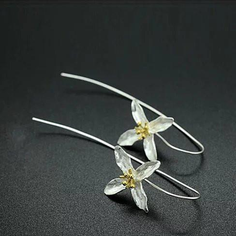 Straight from the Valley Amazing Flower Earrings made in Sterling Silver - VistaShops - 1