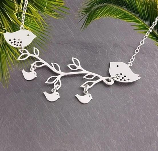 Summer Songs Necklace in Sterling Silver - VistaShops - 3
