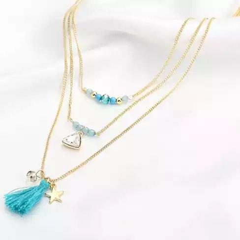 TASSEL AND TRINKETS Layered Necklace - VistaShops - 2