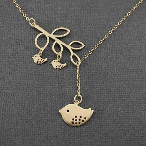 Blessed Birds On The Branch Necklace - VistaShops - 2
