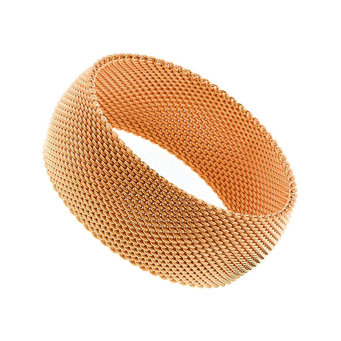 CHERISH Mesh Bangle Trio Of Gold Rose Gold Silver In 3 Sizes - VistaShops - 3