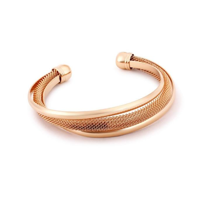 Capri Moon 18 KT Rose Gold Plated Italian Design Mesh Bracelet