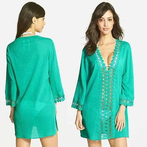 SUN KISSED Crochet Beach Tunic Cover Ups - VistaShops - 3