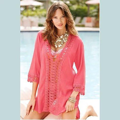 SUN KISSED Crochet Beach Tunic Cover Ups - VistaShops - 4